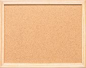 Blank Cork Board With Corkboard Texture Background With Wooden Frame Isolated For Wall Hanging For B poster