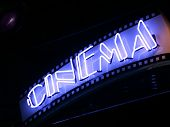stock photo of matinee  - cinema sign - JPG