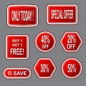 Sale  Banner. Sale Sticker.special Offer Sale Sticker In Flat Style. Discount Tag. Special Offer Ban poster