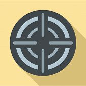 Military Aim Target Icon. Flat Illustration Of Military Aim Target Vector Icon For Web Design poster