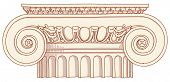 Hand draw sketch Ionic column. Bitmap copy my vector ID 84635941