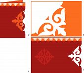 Card In Style Of A National Kazakh Ornament.