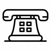 Retro Telephone Icon. Outline Retro Telephone Vector Icon For Web Design Isolated On White Backgroun poster