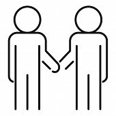 Cooperation Relationship Icon. Outline Cooperation Relationship Vector Icon For Web Design Isolated  poster