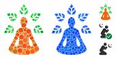 Ioga Wellness Composition Of Small Circles In Different Sizes And Color Hues, Based On Ioga Wellness poster