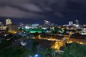 Pattaya Downtown At Night Time, Quiet And Peaceful poster
