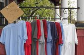 picture of t-shirt red  - Red white blue and gray t - JPG