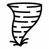 Climate Tornado Icon. Outline Climate Tornado Vector Icon For Web Design Isolated On White Backgroun poster