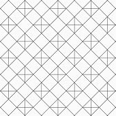 Geometric Linear Vector Pattern, Repeating Square Shape With Linear Plus Sign. Pattern Is Clean For  poster