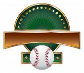 Baseball Design Template Gold Star