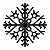 December Snowflake Icon. Outline December Snowflake Vector Icon For Web Design Isolated On White Bac poster