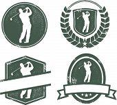 Vintage Style Golf Emblems