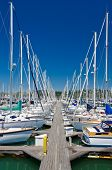 Marina with yachts and boats in Sausalito San Francisco, CA