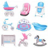 Baby accessories  icons