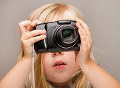 junges Kind eine Kamera eine Aufnahme
