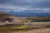 Volcanic Landscape Of Laugavegur Trail. Landmannalaugar, Iceland poster