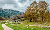 Dodona, In Epirus Greece Was The Oldest Hellenic (ancient Greek) Oracle. The Ruins Of The Big Ancien poster