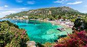 Landscape With Paleokastritsa Bay On Corfu Island, Greece poster