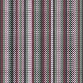 Trendy Vertical Stripes Knitting Texture Geometric Vector Seamless. Plaid Knitwear Fabric Print. Nor poster