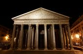 Pantheon - One Of The Most Famous Building In Rome, Italy.