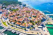 Croatia, Aerial View Of The Town Of Biograd, Marina And Historic Town Center, Beautiful Adriatic Sea poster