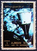 Postage stamp Ajman 1973 Rendezvous of Gemini 6 and 7