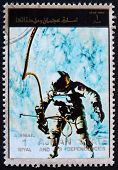 Postage stamp Ajman 1973 Edward White during Spacewalk, Gemini 4