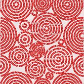 Seamless Pattern With Circles From Bricks. Circles, Tiles, Bricks. Abstract Bright Red Circles On A  poster