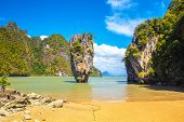 James Bond Island Famous Destination Place In Thailand. James Bond Island (khao Phing Kan, Khaoo Tap poster