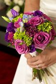 Bridal flower bouquet