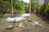 Excavating And Laying Pavers For Garden Patio