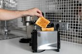 Breakfast Toast. Toast Bread Close Up A poster