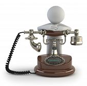 3D Small People - Old Phone