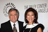 LOS ANGELES - OCT 22:  Leslie Moonves, Julie Chen arrives at  the Paley Center for Media Annual Los Angeles Benefit at The Lot on October 22, 2012 in Los Angeles, CA