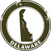 Vintage Delaware USA State Stamp