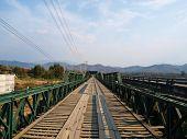 Historical Bridge Over The Pai River In Mae Hong Son, Thailand