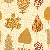 Seamless pattern with autumn leafs, abstract leaf texture, endless background.Seamless pattern can b