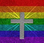 Rainbow Flag Cross