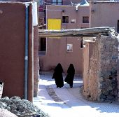 Women Walking In Abyaneh Village, Iran