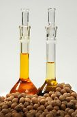 image of ethanol  - Ethanol oil and fuel produce by soy seeds