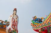 The Colorful Chinese Dragon With Guan Yin