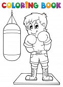 Coloring book sport and gym theme 1 - eps10 vector illustration.