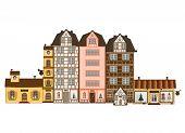 Traditionelle Häuser in Europa
