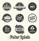 image of ace spades  - Collection of retro style poker champion labels - JPG