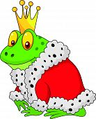 The frog king cartoon on a white background