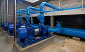 image of valves  - water pumping station  - JPG