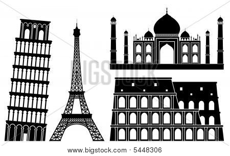 Illustrations Of Worlds Famous Places