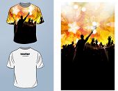 T-shirts. Vector design