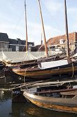 Boat yard for fishing boats.