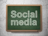 Social media concept: Social Media on chalkboard background